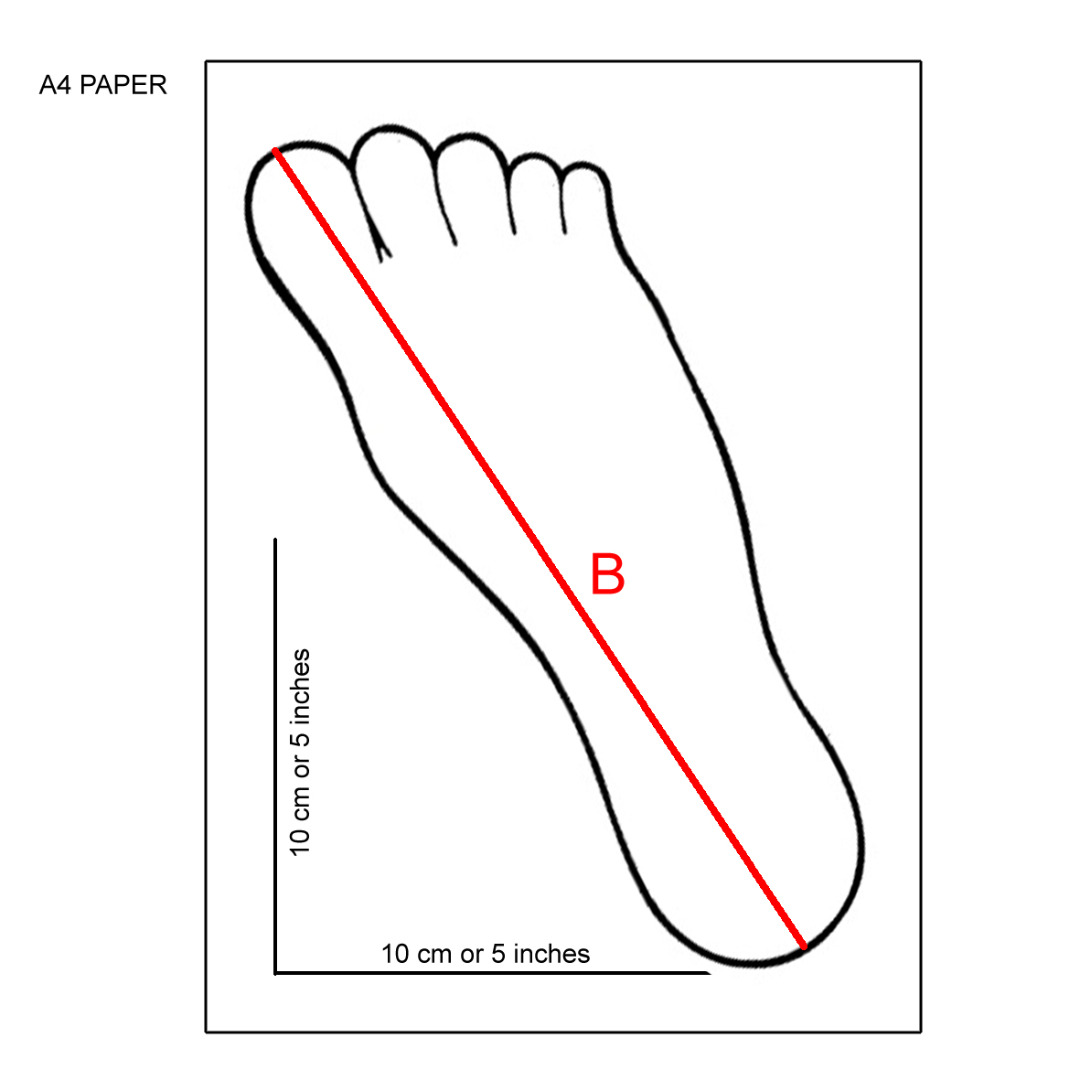 Foot outline